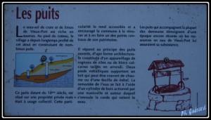 panneau explicatif du puits