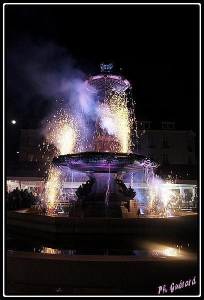 embrasement de la fontaine