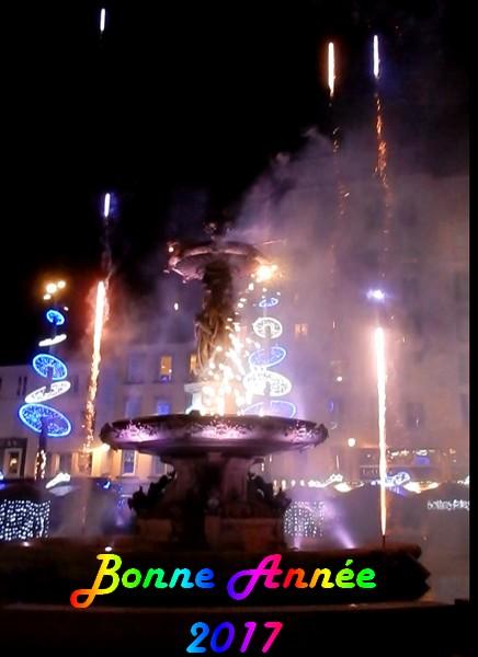 Illumination de la fontaine Cherbourg 2017