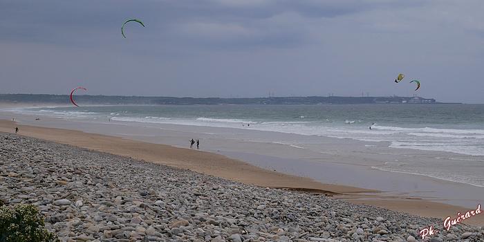 Kitesurf à Vauville