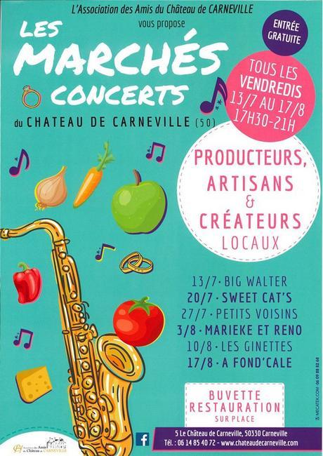 Affiche des marchés-concerts du Château de Carnveille