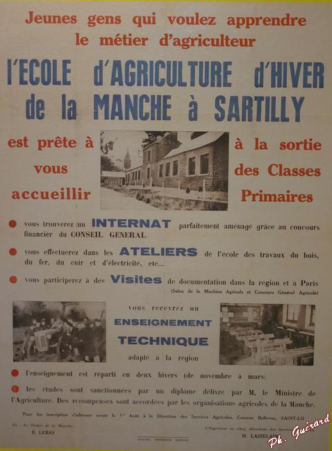 Affiche d'une école