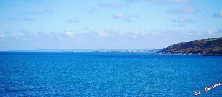Vue vers Cherbourg