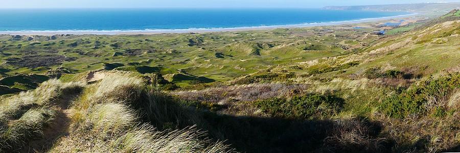 Vue des dunes de Biville/Vauville