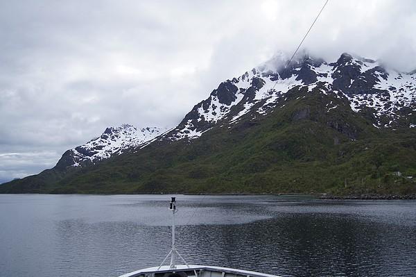 Navigation dans le Raftsundet