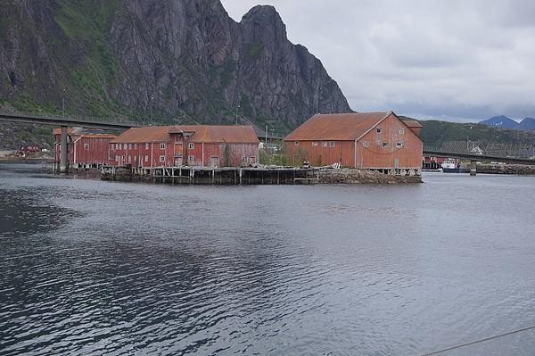 Vieux bâtiments à Svolvaer