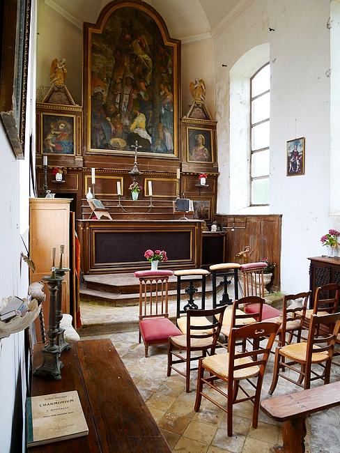 château de la Bretonnière, intérieur de la chapelle